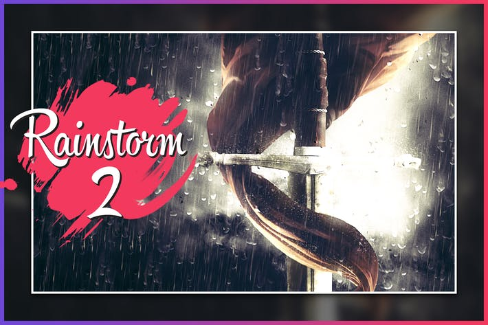 Thumbnail for Rainstorm 2 CS4+ Photoshop Action