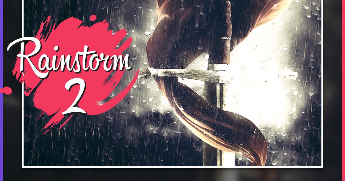 Download Rainstorm 2 CS4+ Photoshop Action by FD-Design