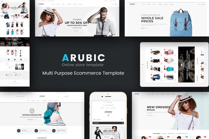 Cover Image For Arubic - Responsive Prestashop Theme