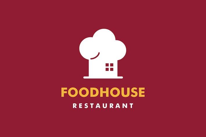 Food House Chef Hat Logo
