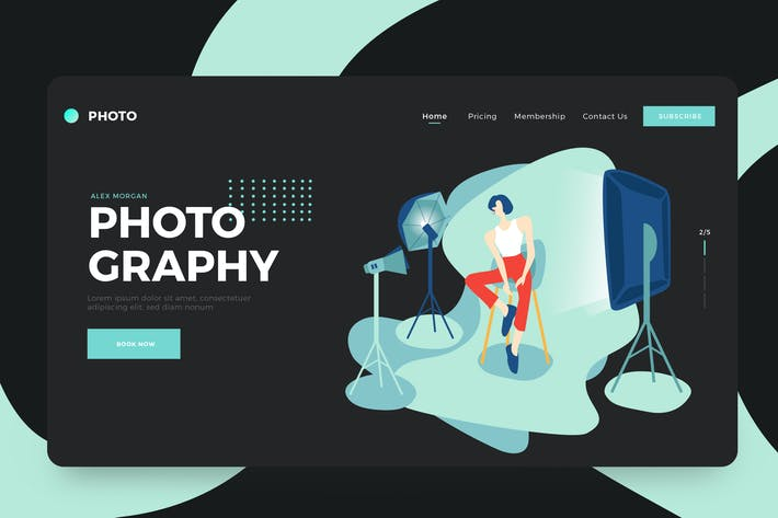 Cover Image For Freelance Photographer Vector Illustration