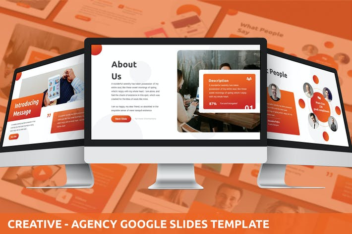 Thumbnail for Creative - Agency Google Slides Template