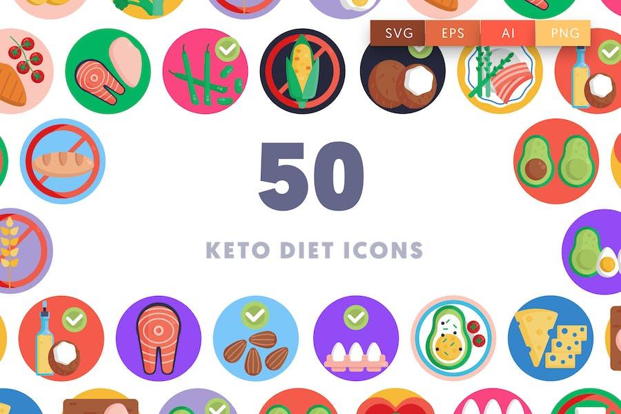 50 Keto Diet Icons