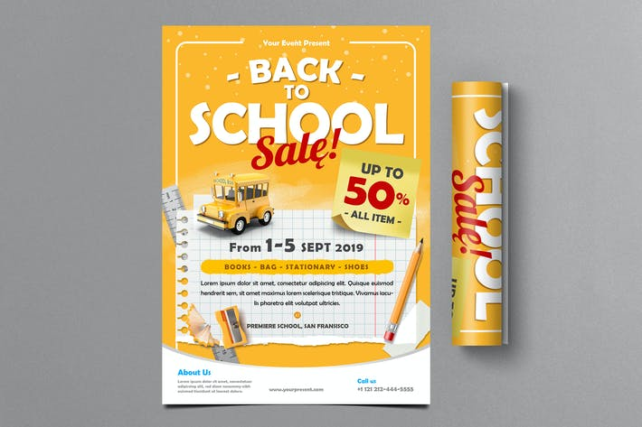 Thumbnail for Back To School Sale Flyer