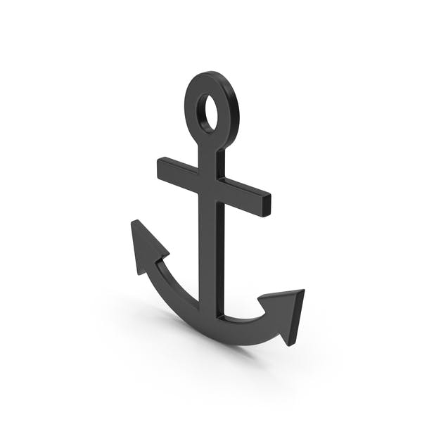 Symbol Anchor Black