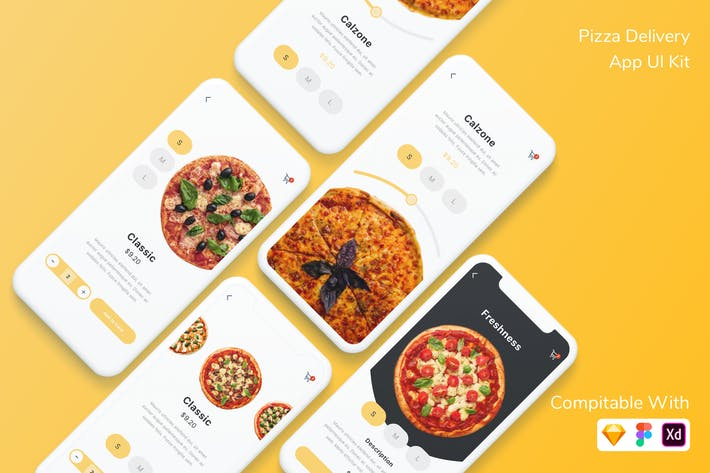 Thumbnail for Pizza Delivery App UI Kit