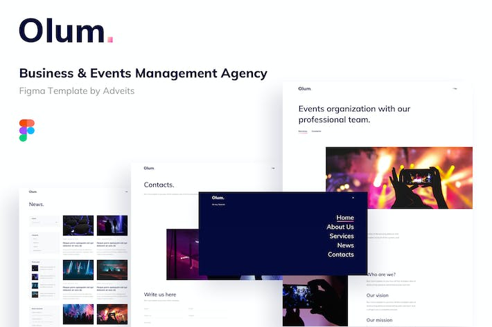 Olum - Business & Events Management Agency Figma T