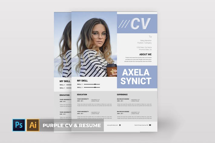 Thumbnail for Violet | CV & CV
