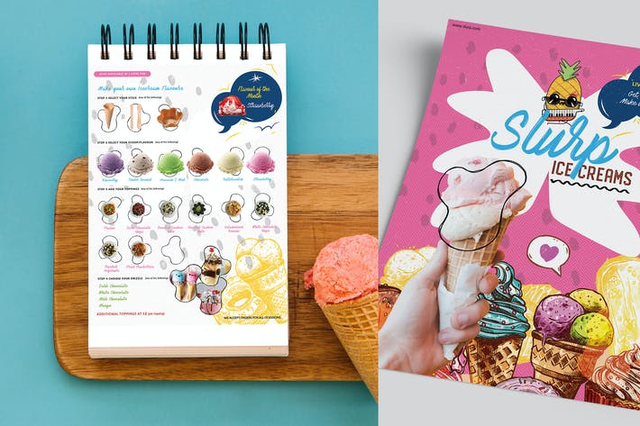 Thumbnail for Slurp Ice-cream menu card