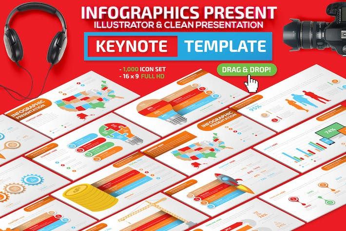 Cover Image For Infographics Keynote Presentation Template