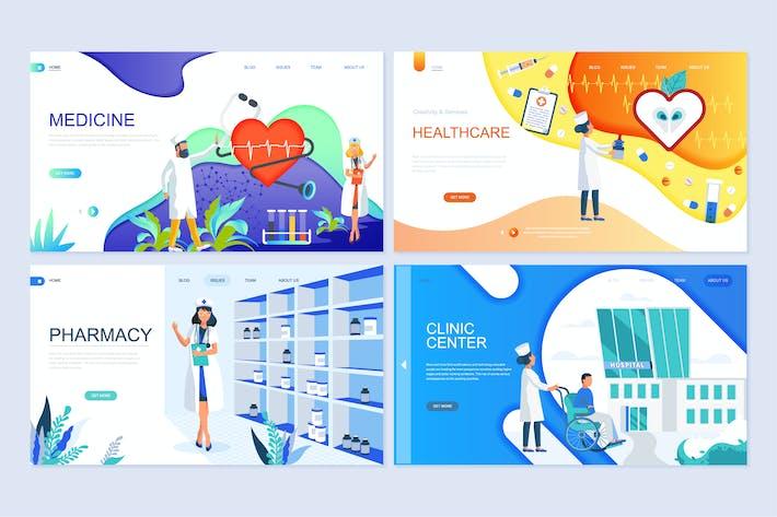 Thumbnail for Concepto plano Kit de Plantillas de página de aterrizaje