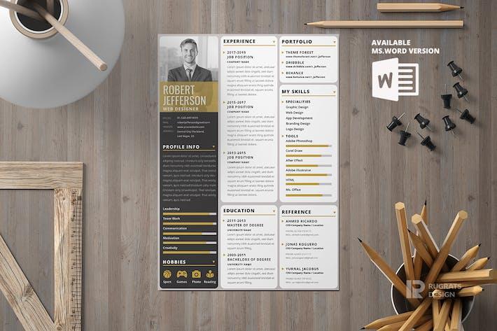 Thumbnail for Minimalist CV Resume R6