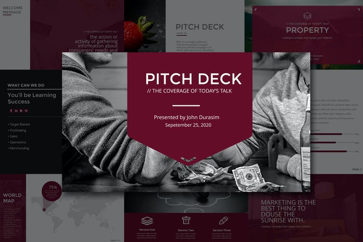 Thumbnail for Business Pitch Deck Powerpoint