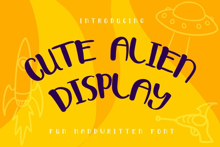 Thumbnail for Cute Alien Display Font