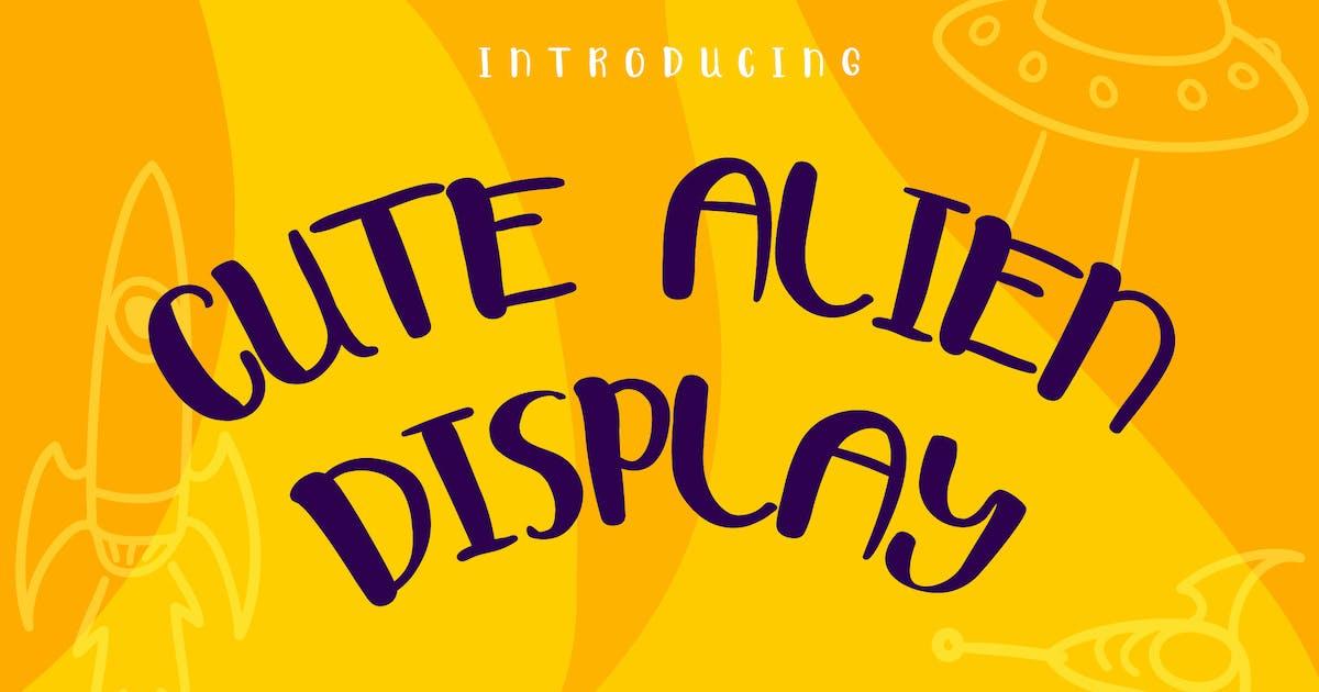 Download Cute Alien Display Font by Suhandi