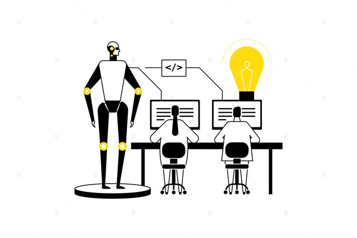 Thumbnail for Artificial intelligence - flat design illustration