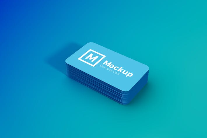 Thumbnail for Rounded Business Card Stack Mockup
