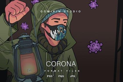 Corona Illustration