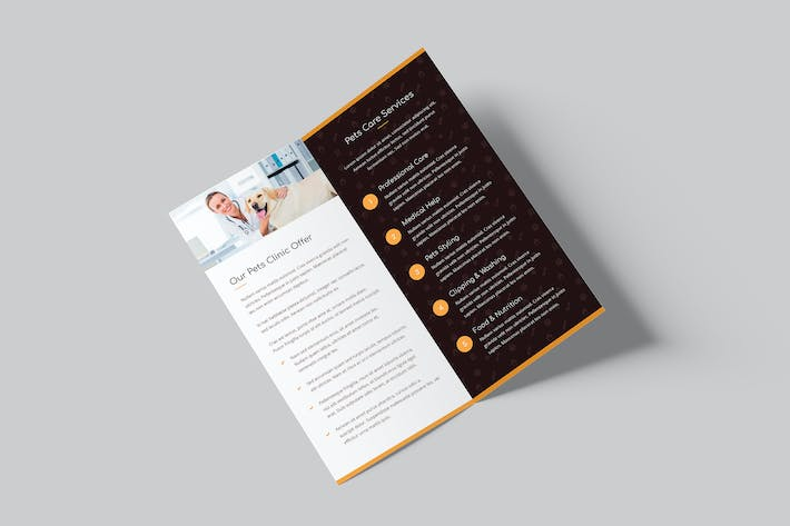 Cover Image For Brochure – Pets Care Bi-Fold DL