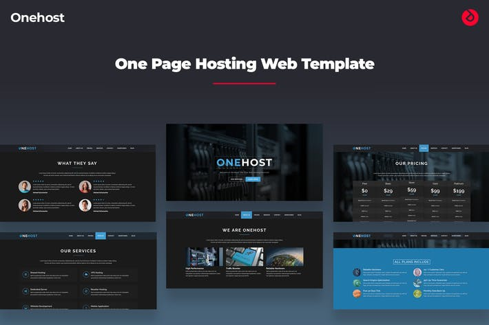 Thumbnail for Onehost - Onepage Hosting Template