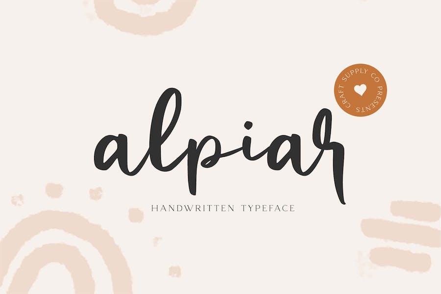Alpiar - Handwritten Typeface