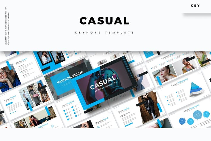 Cover Image For Casual - Keynote Template