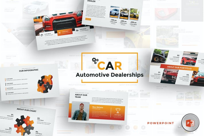 Thumbnail for Car Dealerships Powerpoint Template