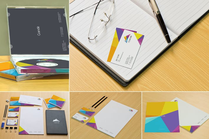 Cover Image For Office Stationery Branding Mockups