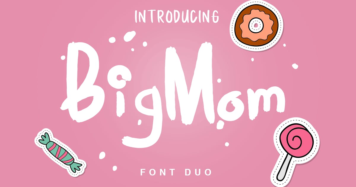 Download BigMom Font Duo by factory738