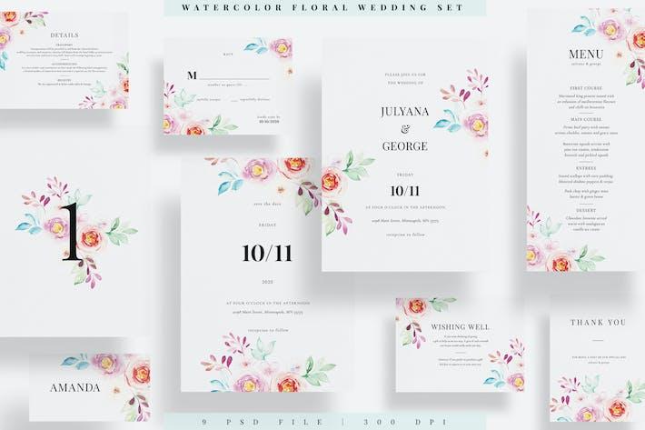 Thumbnail for Aquarelle Floral Mariage Set EZ