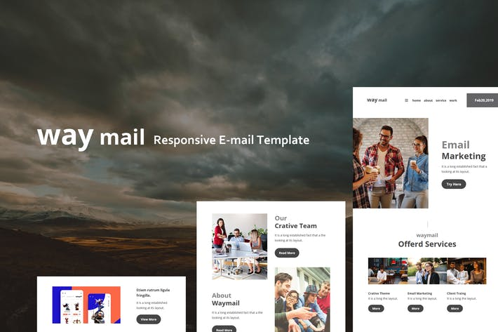 Thumbnail for Way Mail - 30+ Modules E-mail Templates