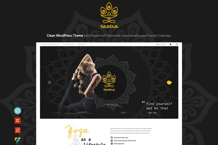 Thumbnail for Tantra - A Yoga Studio and Fitness Club WP Theme