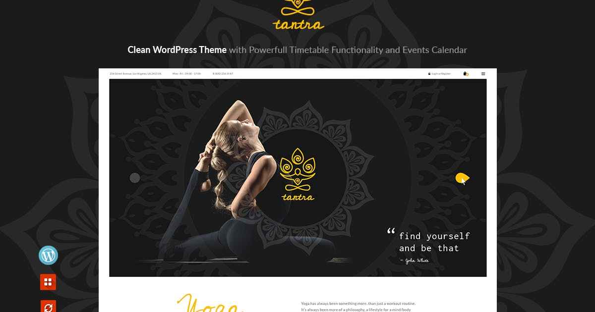 Download Tantra - A Yoga Studio and Fitness Club WP Theme by axiomthemes