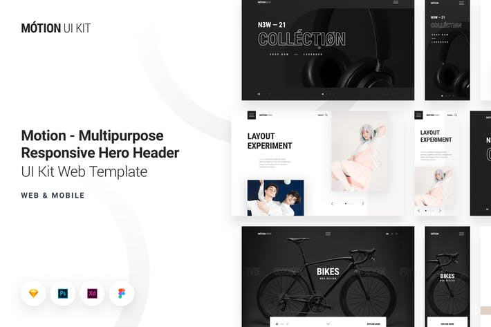 Thumbnail for Motion - Multipurpose Responsive Hero Header Kit
