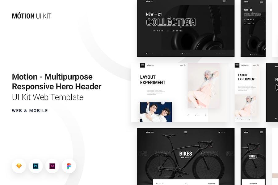 Motion - Multipurpose Responsive Hero Header Kit