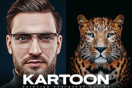Картун Живопись Photoshop Действие
