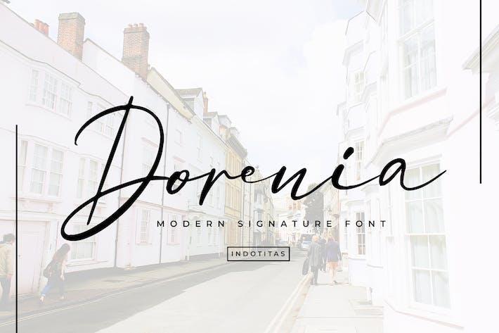 Thumbnail for Dorenia Signature Font