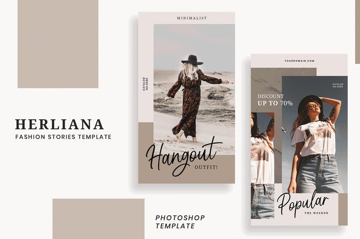 Thumbnail for Herliana Fashion Instagram Stories Template