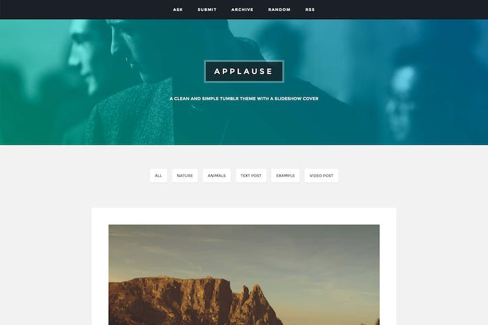 Thumbnail for Applause - A Content Focus Theme