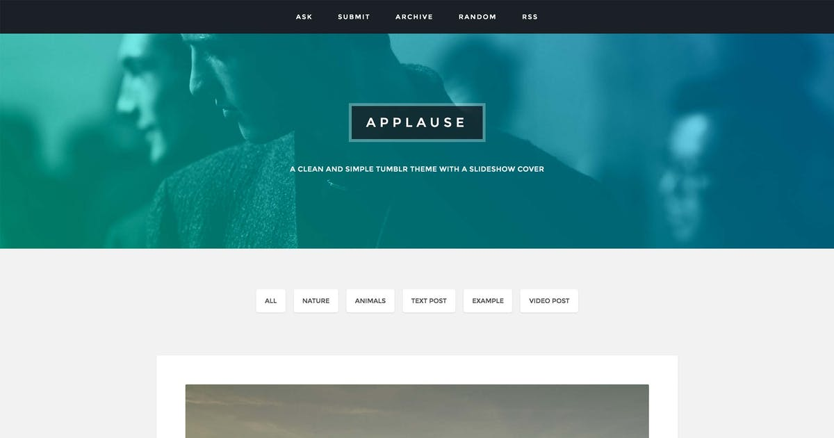 Download Applause - A Content Focus Theme by thejenyuan