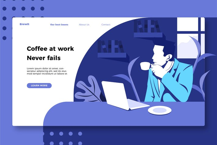 Thumbnail for Coffee - Banner & Landing Page