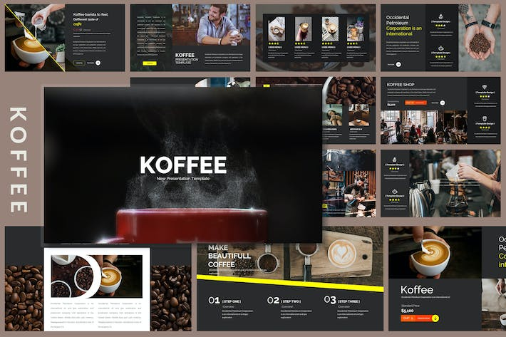 Thumbnail for Koffee Corporate - Powerpoint Template