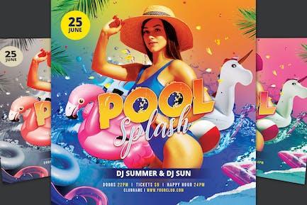 Pool Splash Flyer