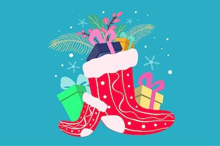 Christmas gift - Illustration