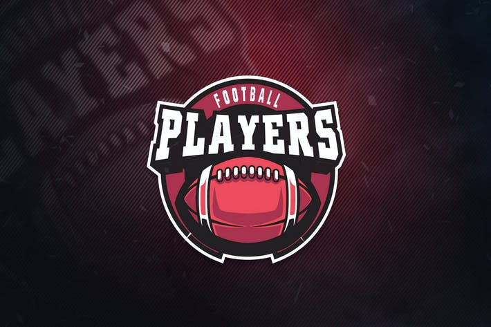 Thumbnail for Football Player Sports Logo