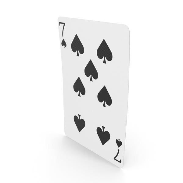 Playing Cards 7 of Spades