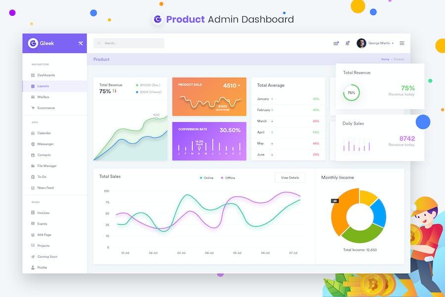 Products - Admin Dashboard UI Kit