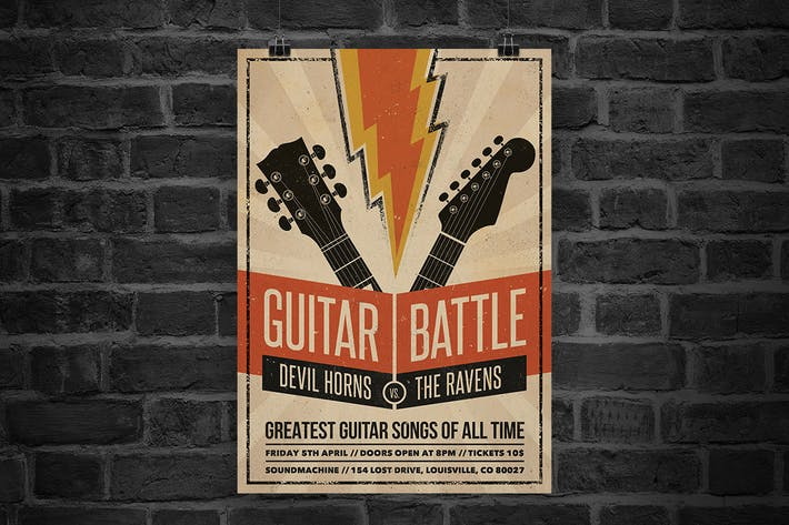 Thumbnail for Guitar Battle Flyer