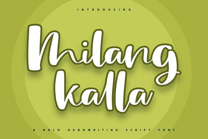 Thumbnail for Milangkala   Fuente de escritura a mano en negrita