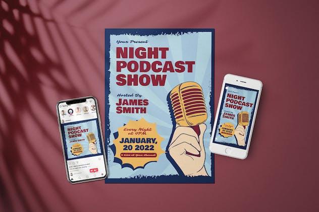 Night Podcast Show - Flyer Media Kit